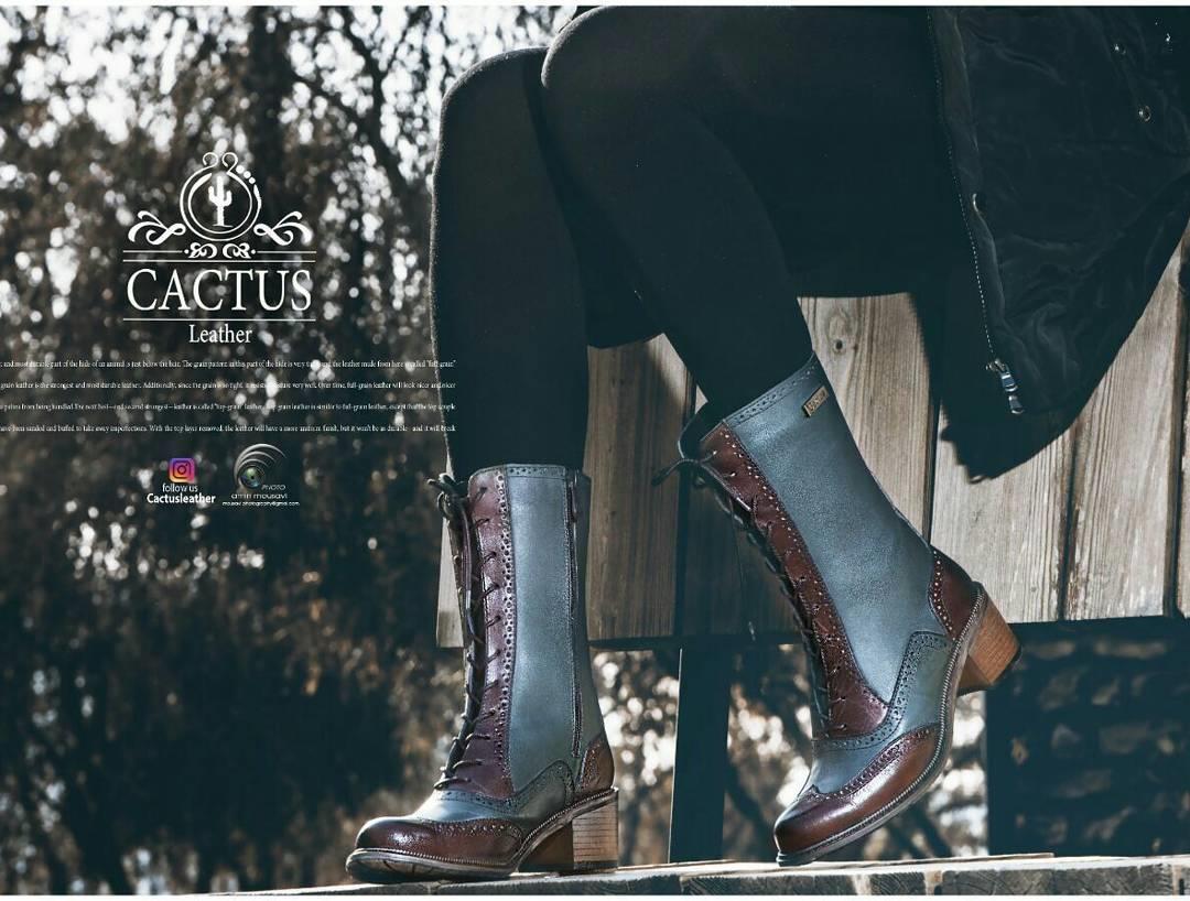 کفش چرم کاکتوس