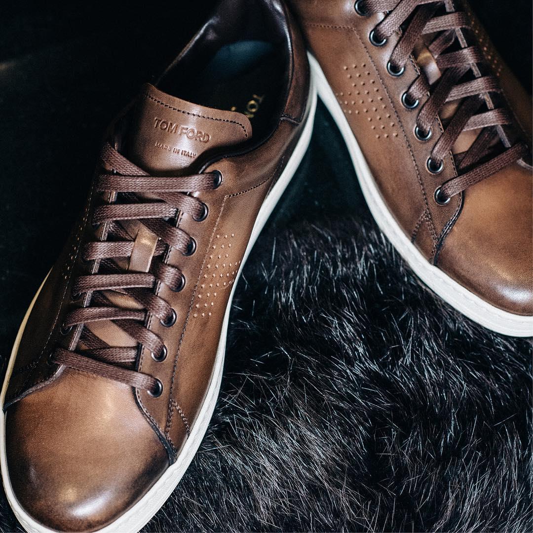 کفش کتانی چرمی تام فورد؛ #کفش
