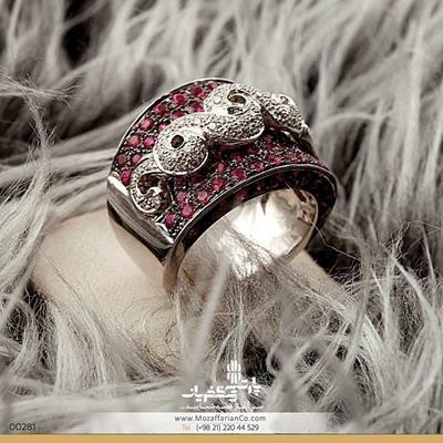 #انگشتر جواهر یاقوت قرمز طلا