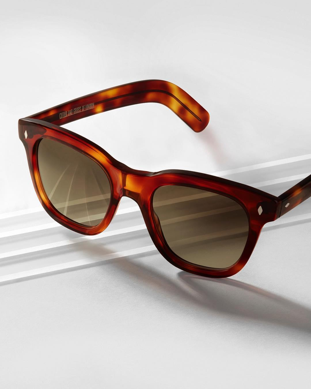 Timeless tortoiseshell. Clean lines and classic colour. The Cutler and Gross frame 1232, a bold reinvention of the 0850 featuring the classic diamond pin and heavy, tapered temples