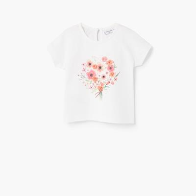 Embossed design t-shirt Cotto