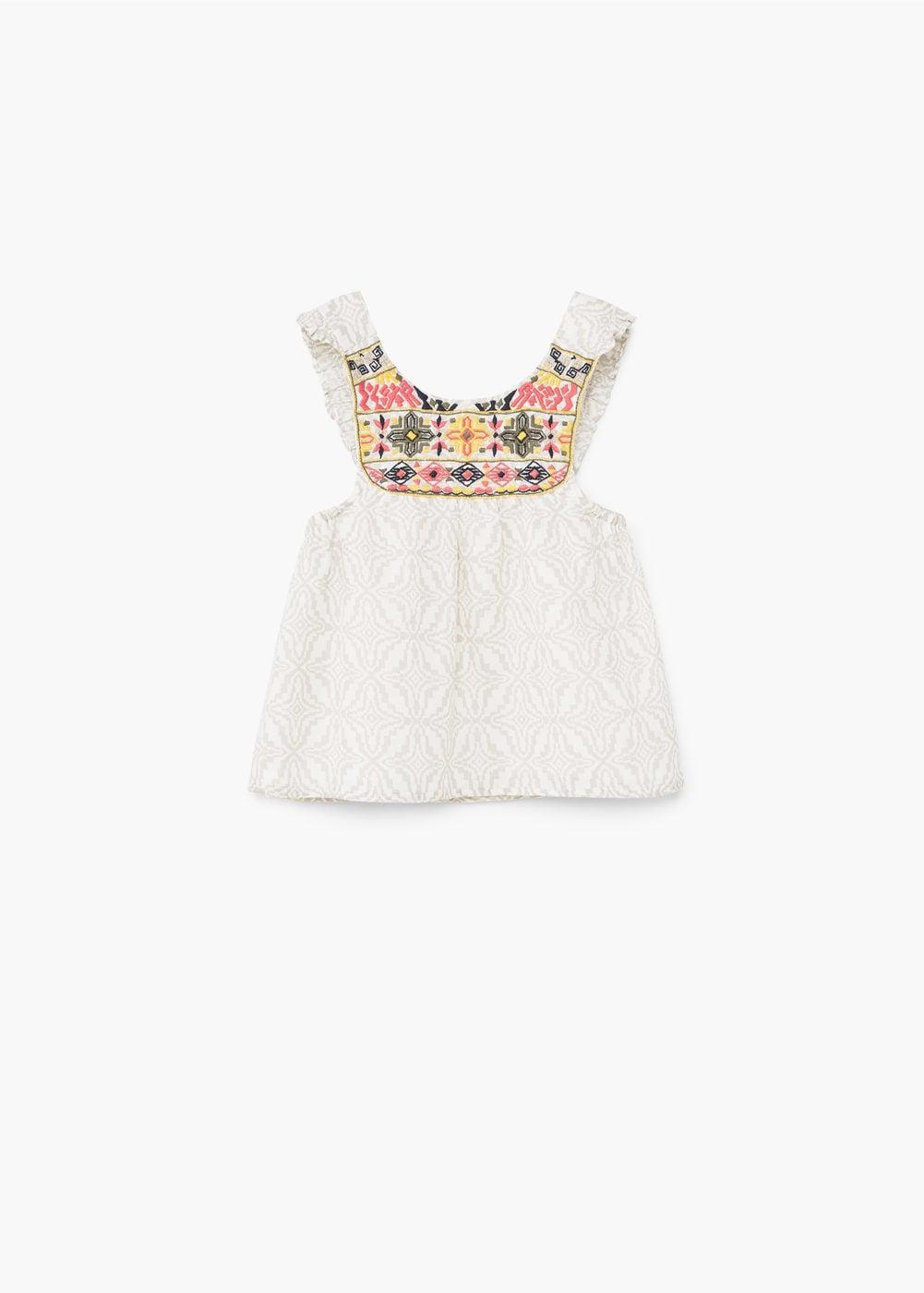Geometric-print blouse Cotton