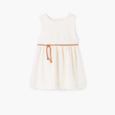 Cord textured dress Cotton-bl
