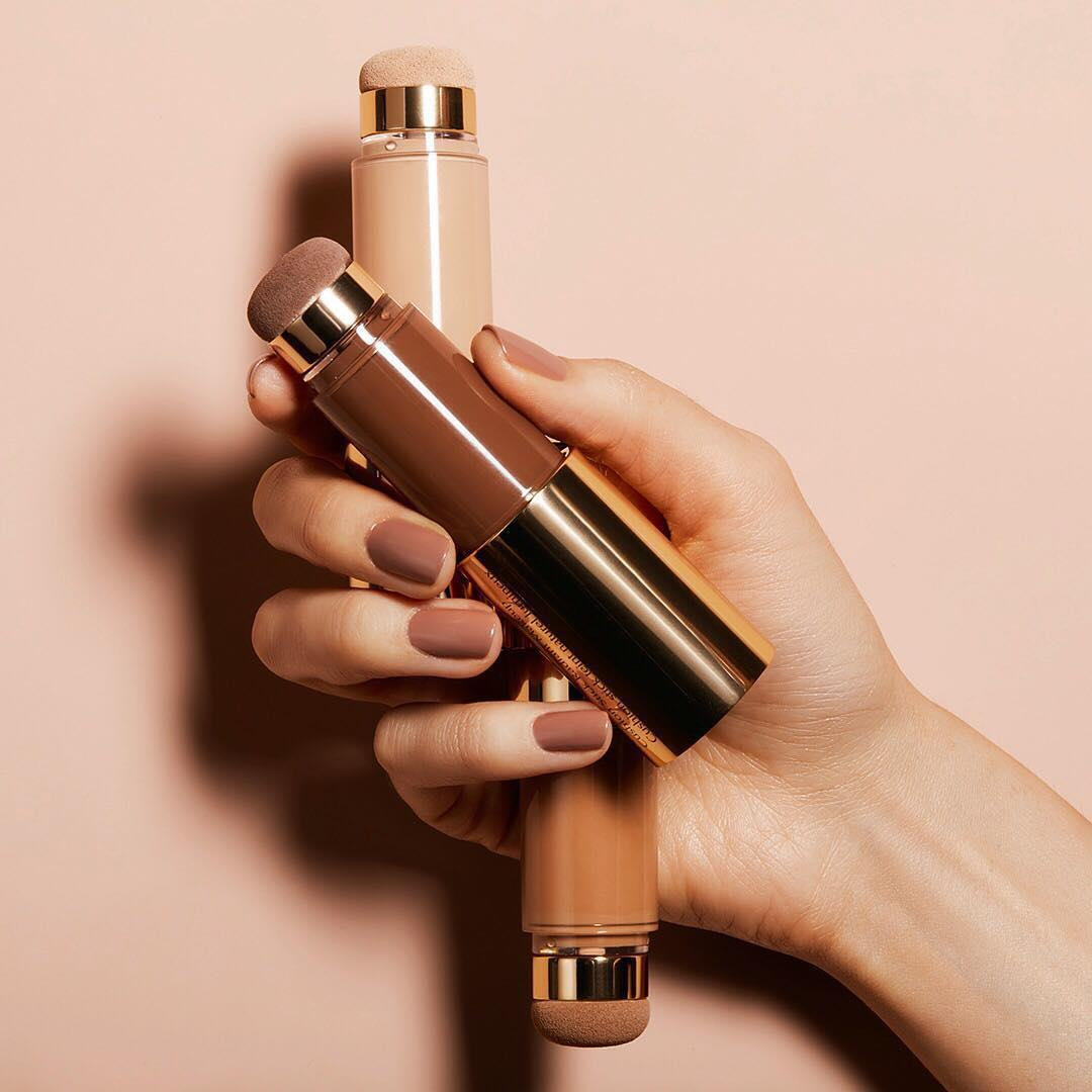 Radiant #foundation created with the flick of a wrist. Try our #DoubleWear Nude Cushion stick for a liquid makeup and pro #makeup artist tool in one.