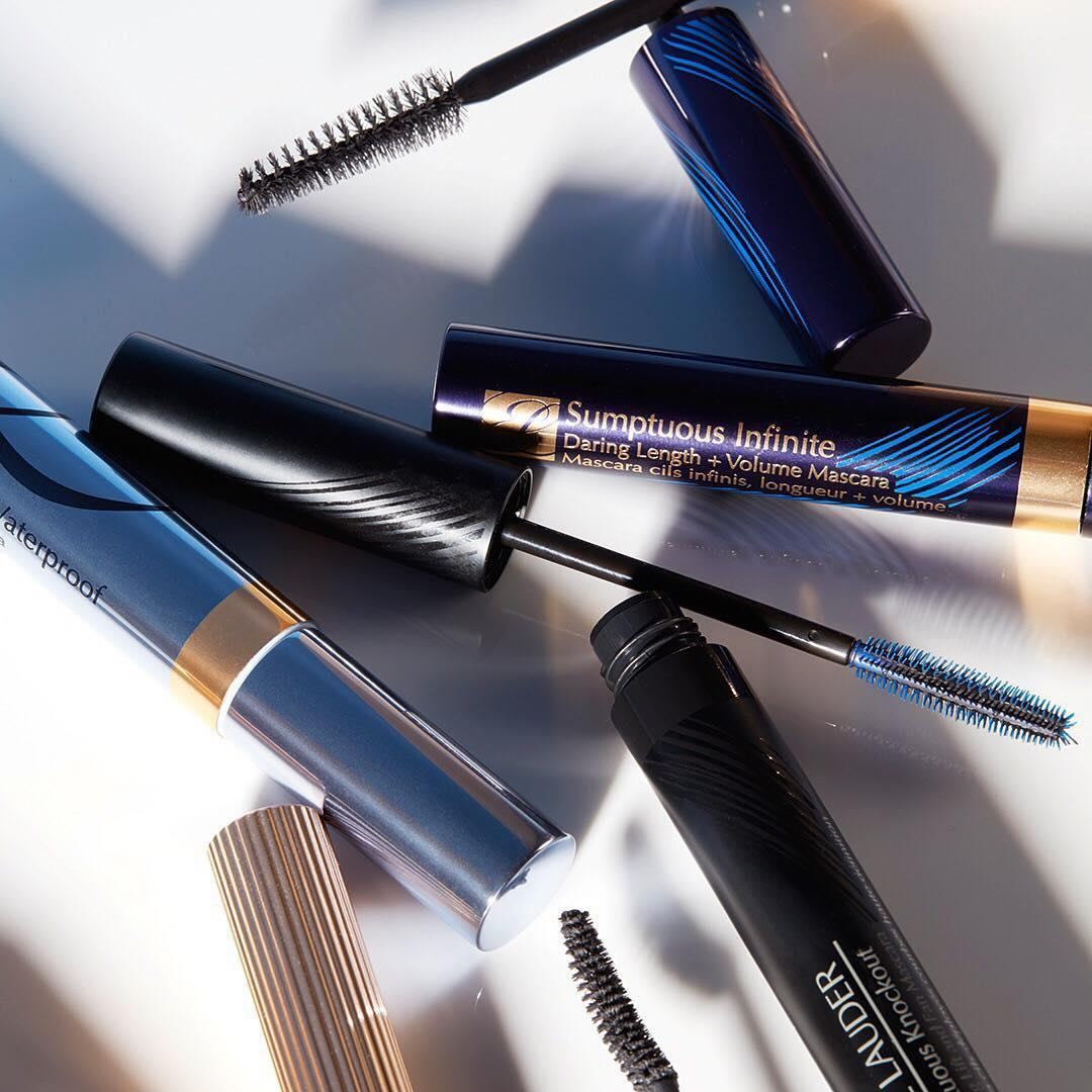 We've got a #mascara for every occasion, which is your favorite, #EsteeBeauties? Let us know in the comments below. Featured here: Sumptuous Infinite for length and volume, Sumptuous Knockout for lifting and fanning, Double Wear for 15-hour lengthening or Sumptuous Extreme Waterproof for outrageous splash-proof volume.