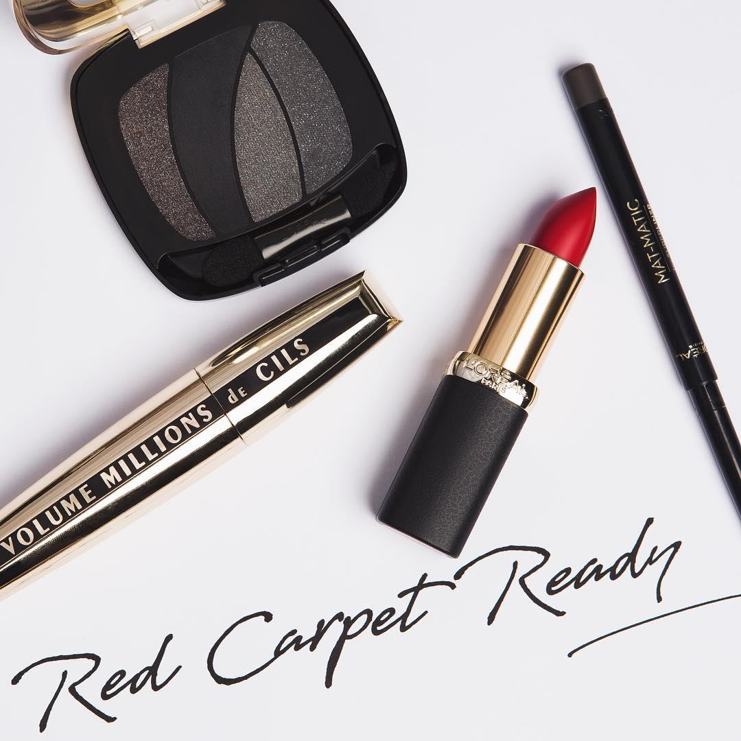 👠AMFAR Essentials 👠 featuring Color Riche Matte 💄 in 346- Scarlet Silhouette✔️Volume Million Lashes Mascara✔️Mat-Matic Eyeliner in grey✔️ & Color Riche les Ombres in S13 - Magnetic Black ✔️