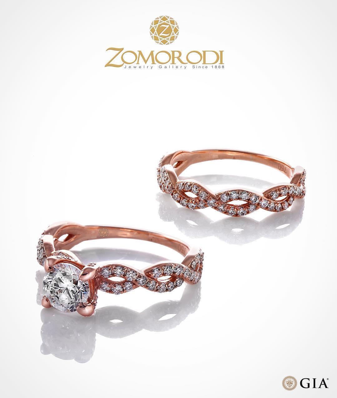 #solitaire #rosegold #diamond