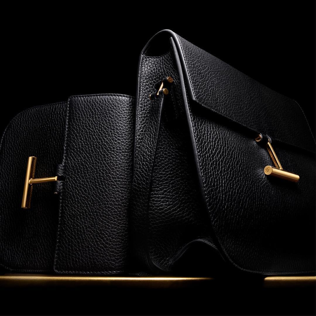 TOM FORD Tara handbags with signature 'T' details. #TOMFORD