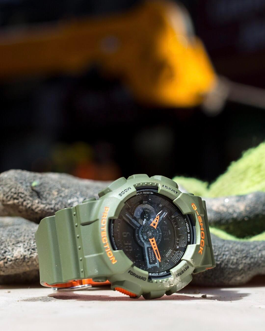 Bold color combo. The #GA110LN is made to challenge the status quo.