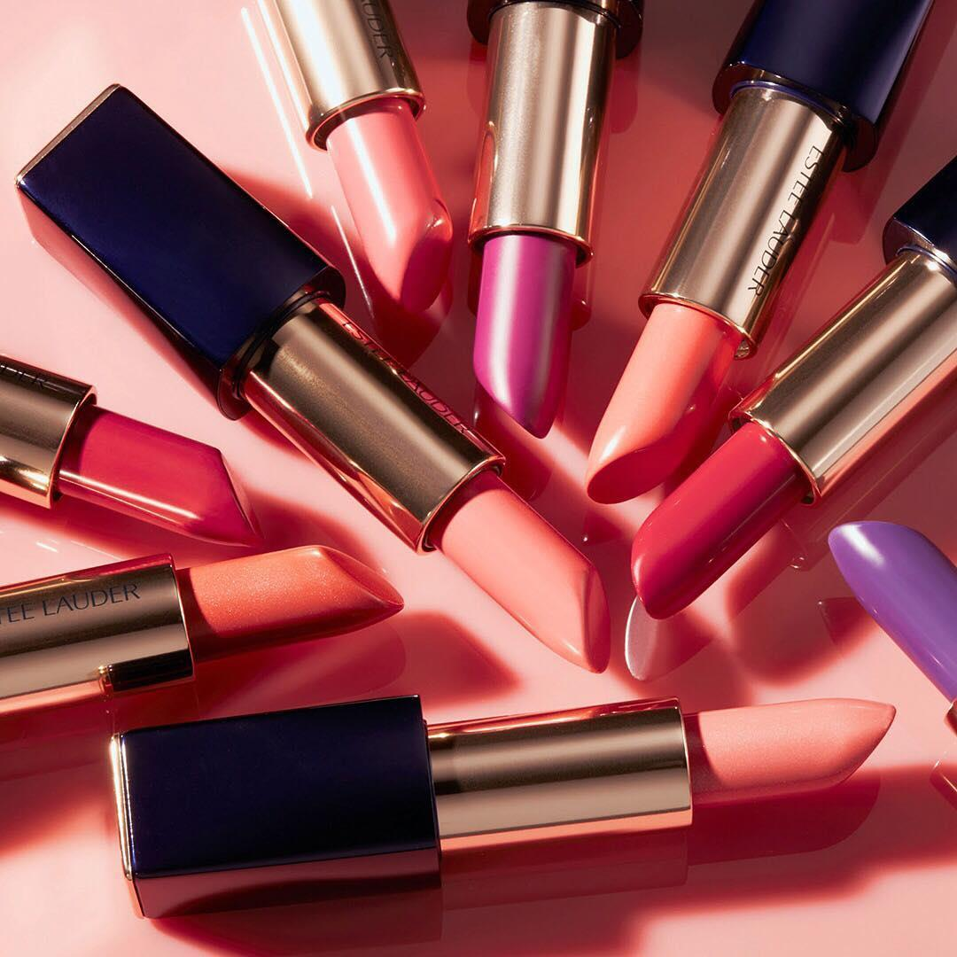 Pastel party. Which shade of #LipstickEnvy are you reaching for today, #EsteeBeauties?