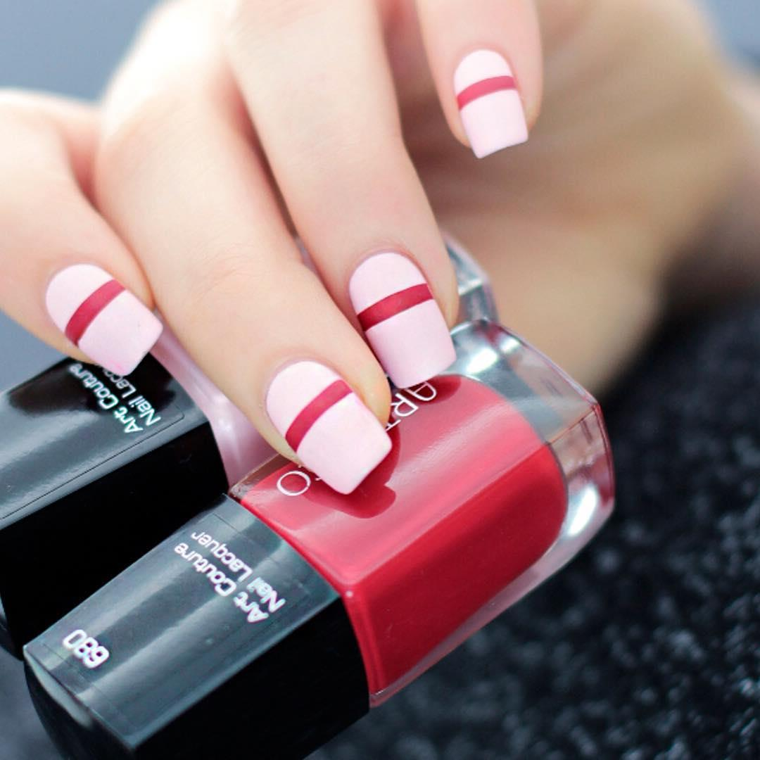 What a nail design! Double tap, if you like this combination of 680