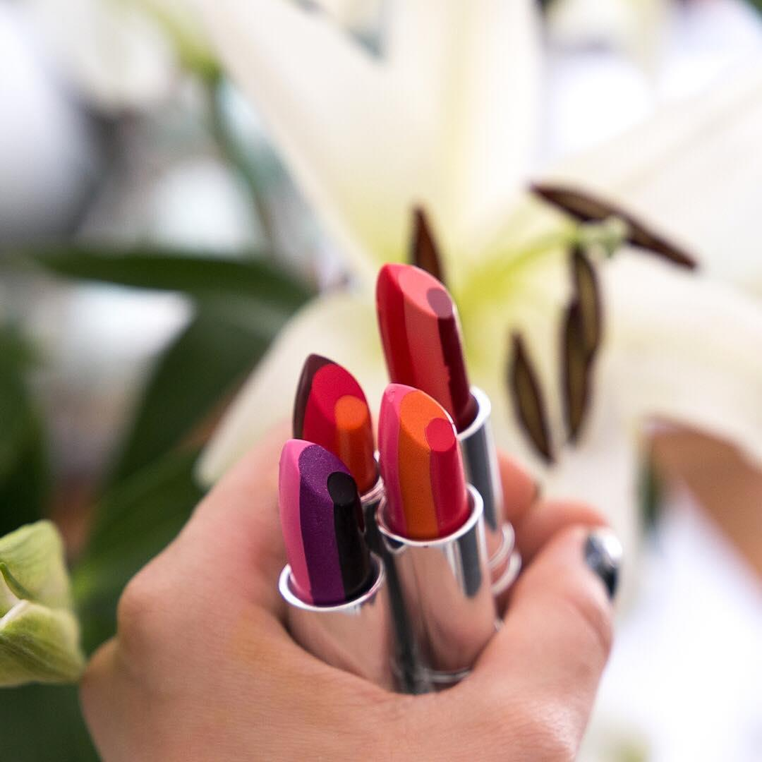 Our beauty crush of the week: The Ombré³ Lipstick! The three-toned lipstick creates the perfect ombré effect in just one stroke. Which color is your fave?