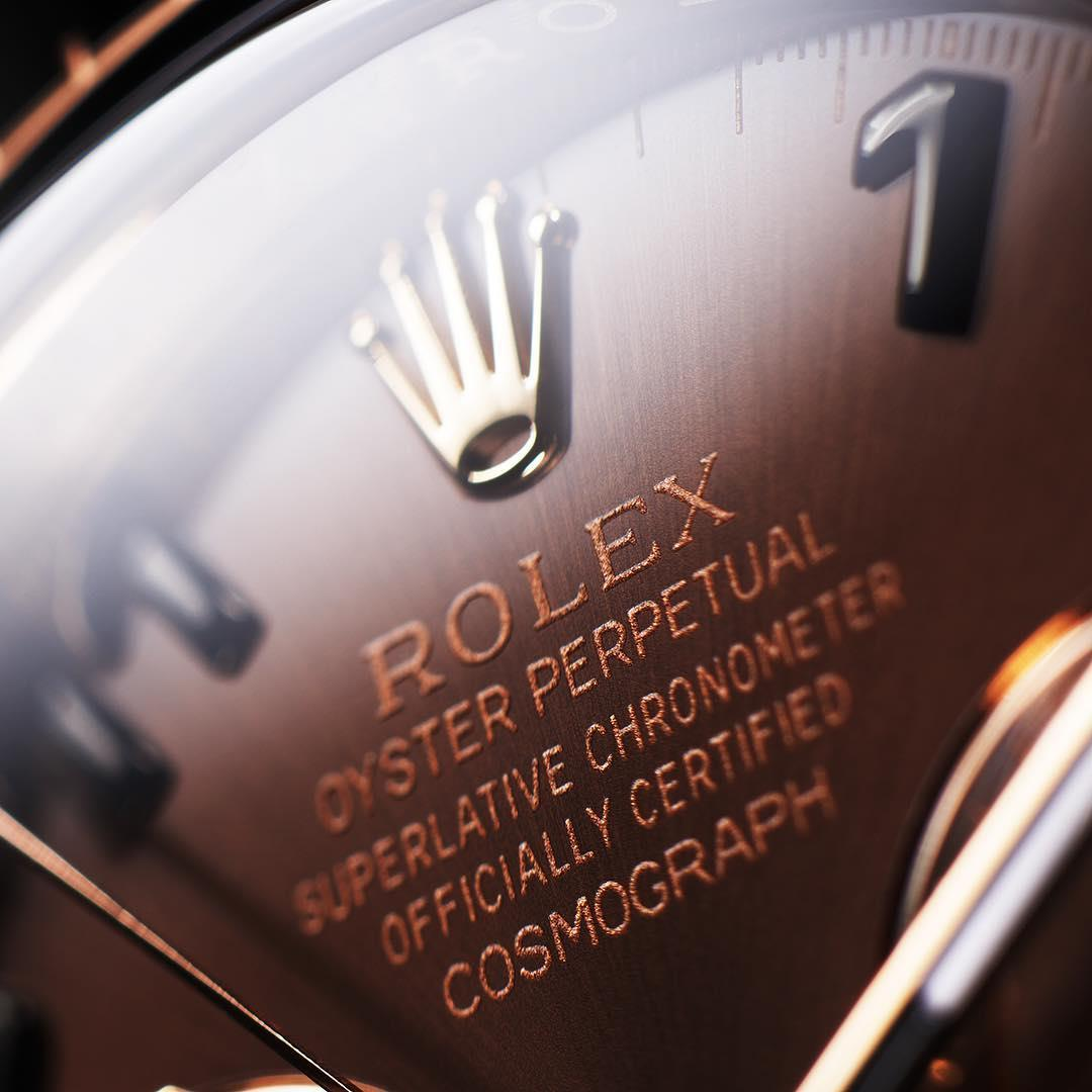 "The Rolex Cosmograph Daytona is a chronograph and a chronometer at the same time. The two words are commonly mistaken. A chronograph is a watch featuring an additional mechanism whose hands can be started, stopped and returned to zero on demand to measure a duration. A chronometer, on the other hand, is a high-precision watch certified by an official body, such as COSC in Switzerland (Contrôle Officiel Suisse des Chronomètres). As for ""Cosmograph"", this singular name invented by Rolex"