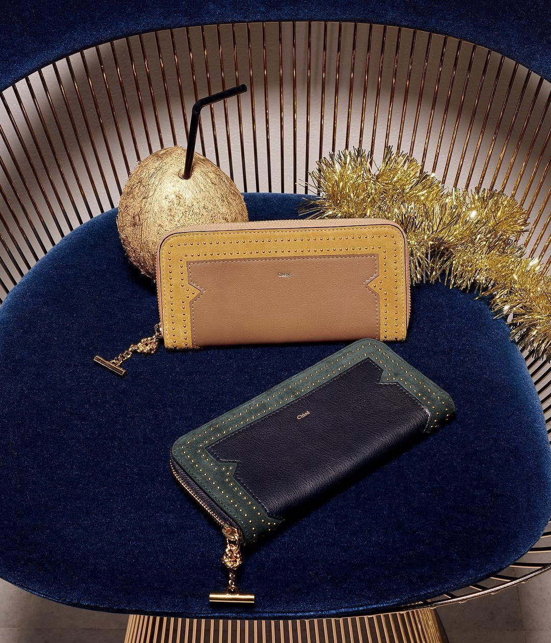 Trinkets & treats – our studded Joe wallet comes in joyous shades of warm mustard and deep blue for the holidays