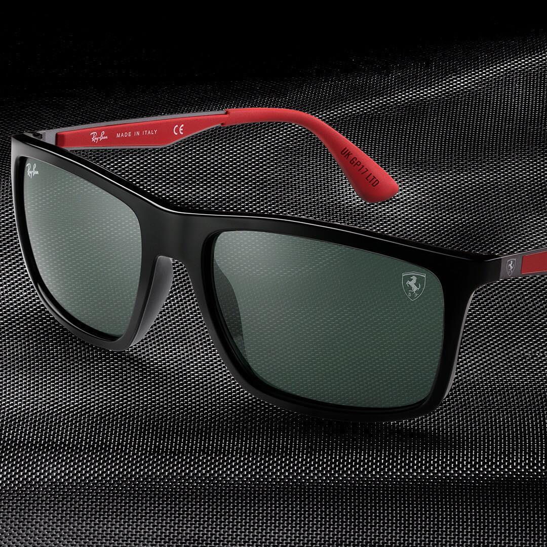 raybanRev up for the #BritishGP with @ScuderiaFerrari Collection Limited Edition frames // Grab a uniquely engraved pair before the checkered flag waves // #ForzaFerrari