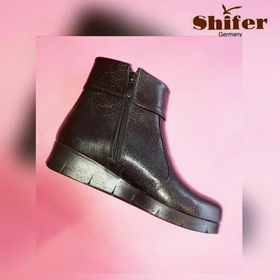 کفش زنانه چرم طبیعی شیفر  مدل