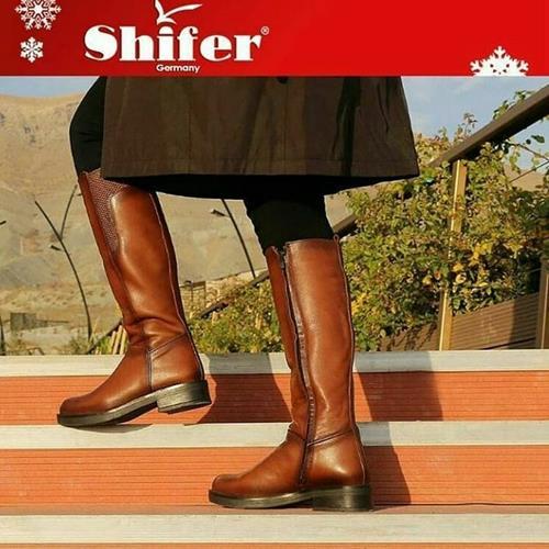 کفش زنانه چرم طبیعی شیفر پلاس