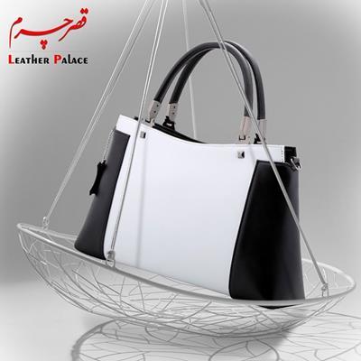 کیف زنانه رنگ : سفید - مشکی