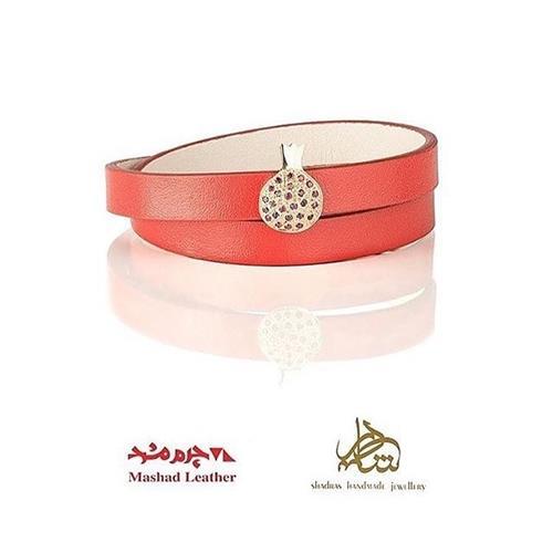 دستبند انار طلا با ياقوت اصل و