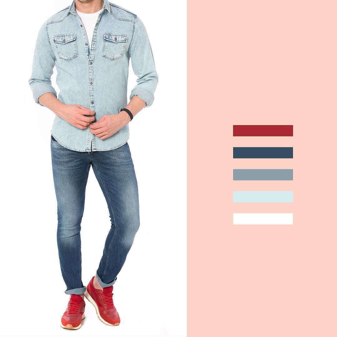 شلوار و پیراهن جین مردانه #ال