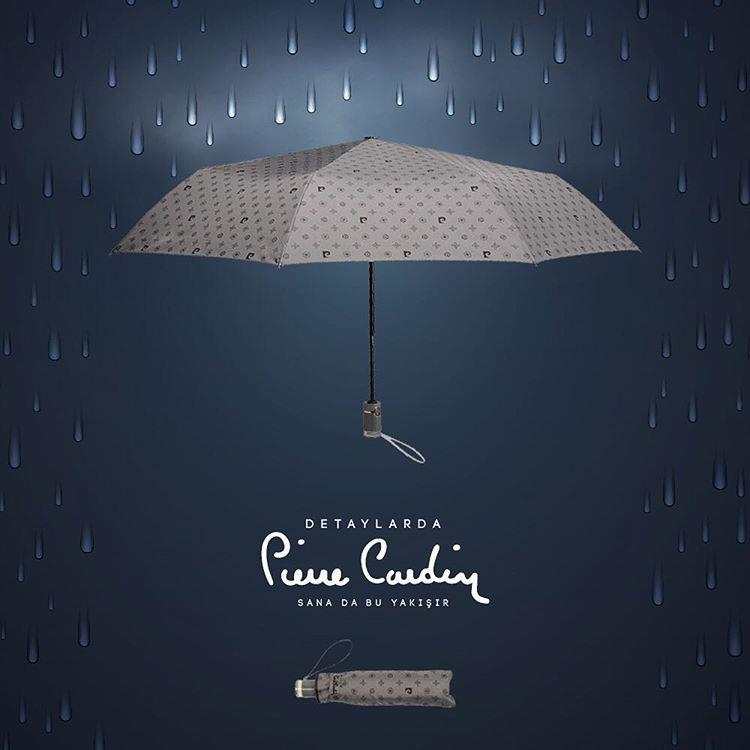 هوای بارانی بهار و چتر پیرکارد