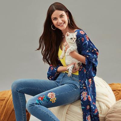 #پوشاک زنانه#کیمونو#شلوار جین#