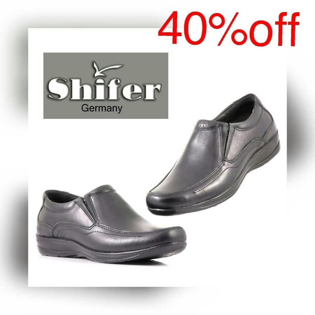 کفش مردانه چرم طبیعی شیفر مدل: