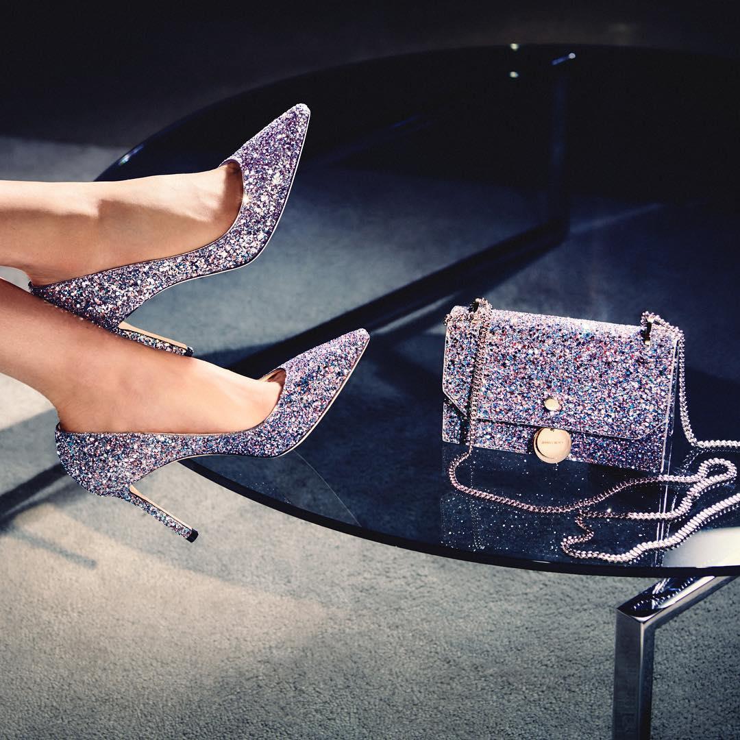 کیف و کفش ست #جیمی چو #pf18 #
