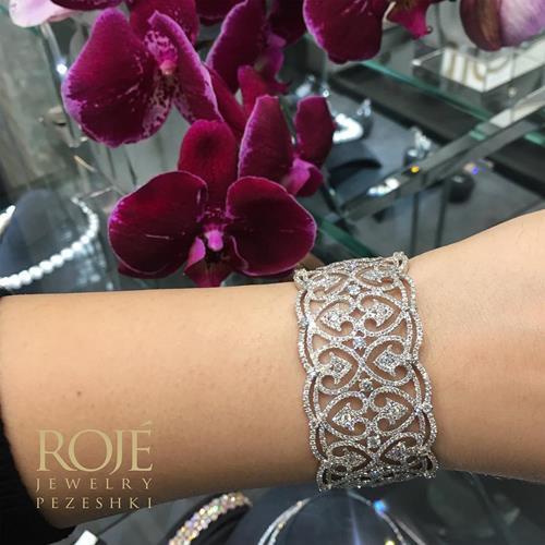 #دستبند#طلا#جواهر#روژه#دستبند