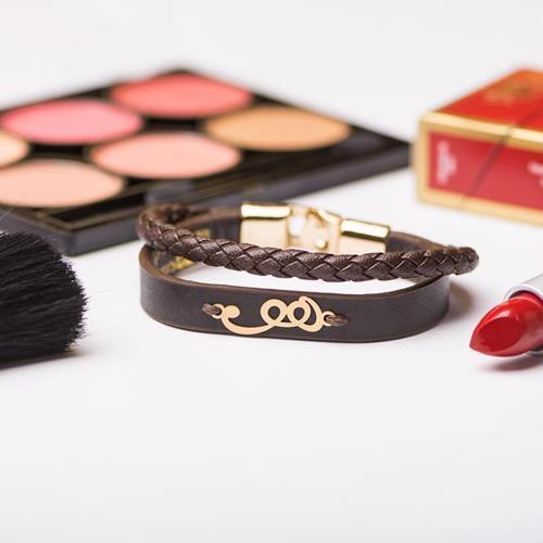 "Leather Bracelet ""هو"" ▶️Gold"