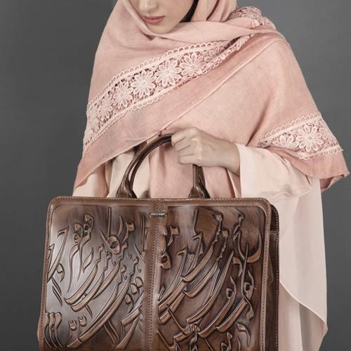 کیف دستی زنانه سیاه مشق کد ۲۰