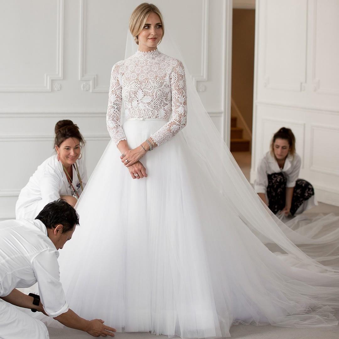 لباس عروس کیارا فرانگی از برند