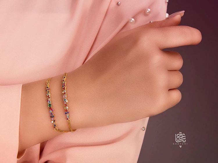 #دستبند #مولتی_کالر باریک وزن