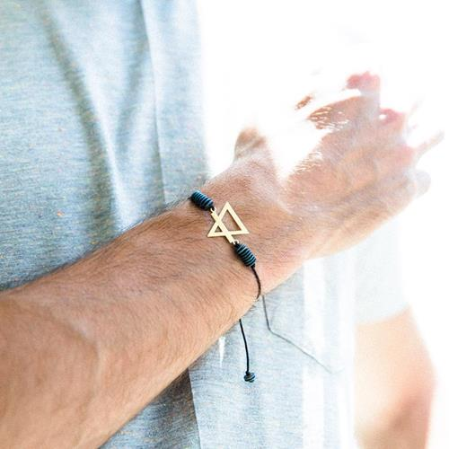 ⛰(مثلث و خط برعکس)دستبند عنصر