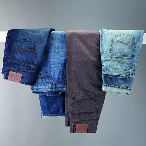انواع شلوار جین مردانه با رنگب