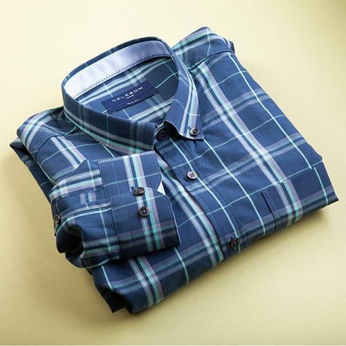 پیراهن مردانه چهارخانه کد:۱