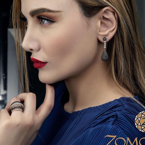 Black #diamonds drop #earrings
