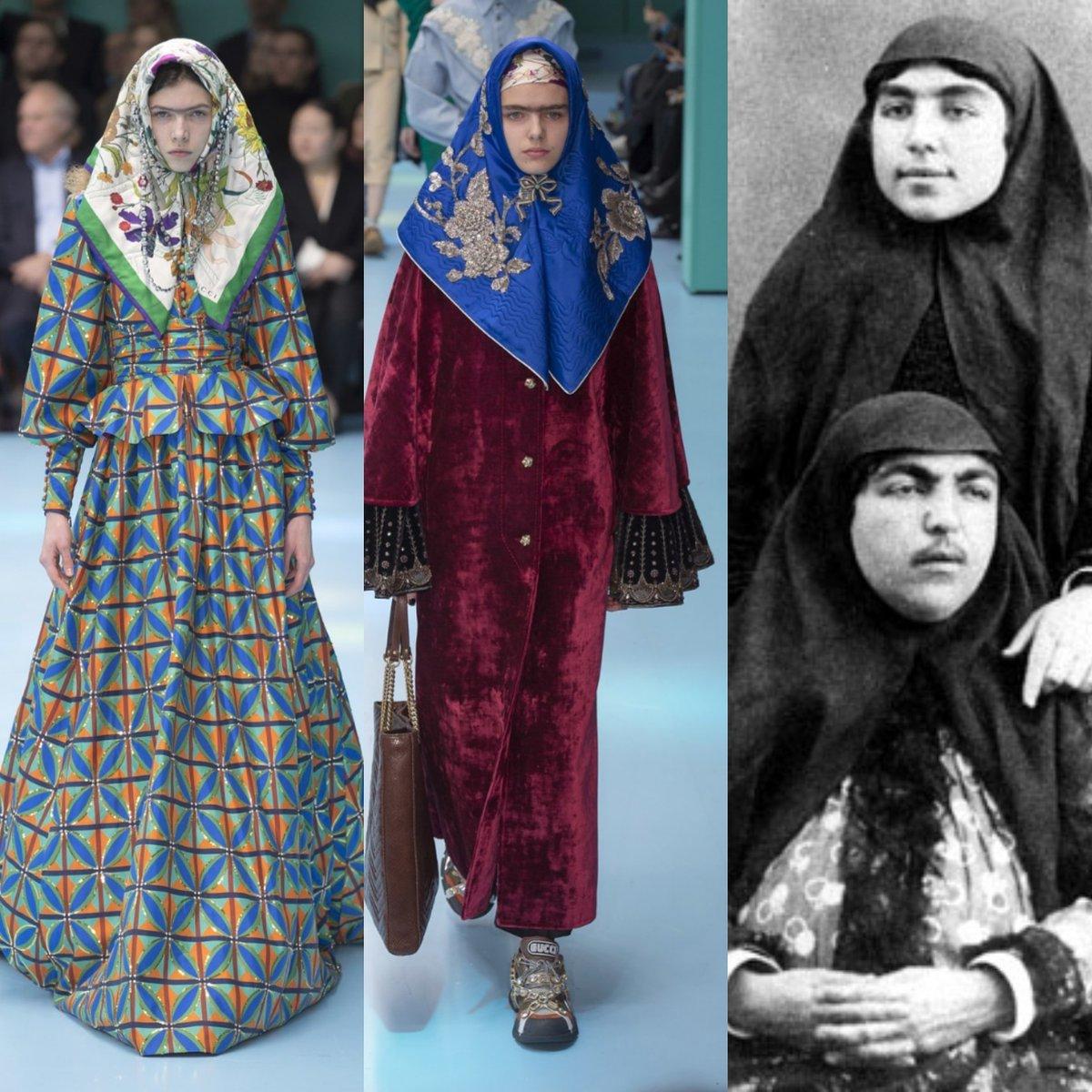 زنان قاجار در فشن شوی گوچی